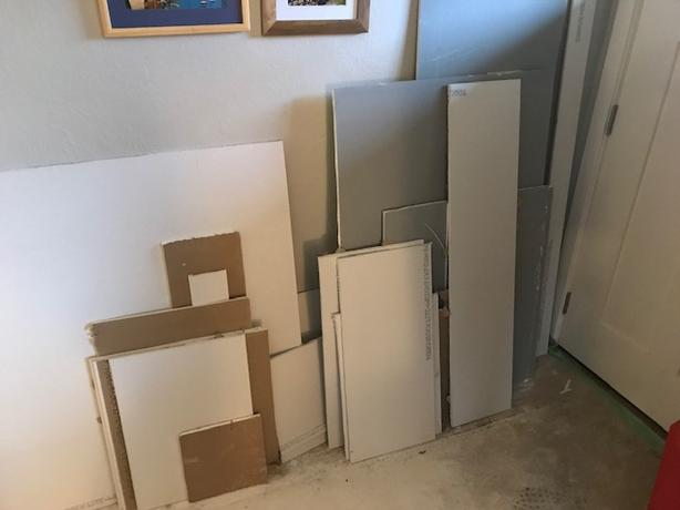 "FREE: 1/2"" Drywall (and Denshield) Offcuts"