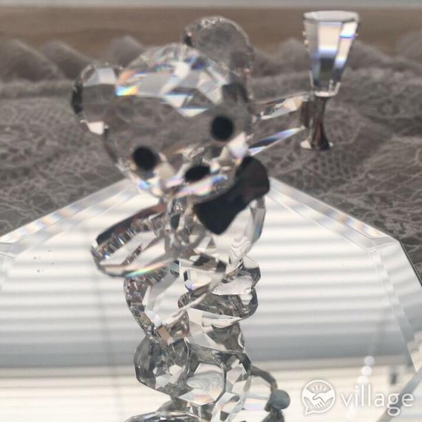 Adorable Pair of Mini Crystal Teddy Bears