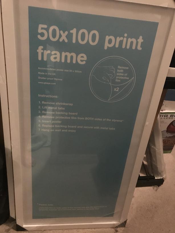 NEW   50 x 100mm Print Frame