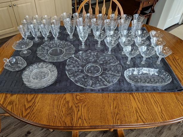 Antique Fostoria Crystal Set - 1937
