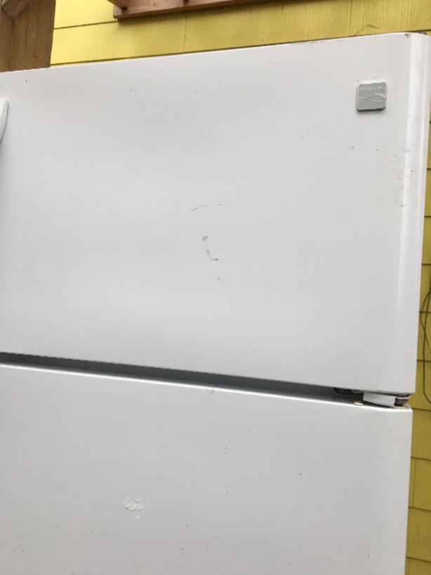 white fridge