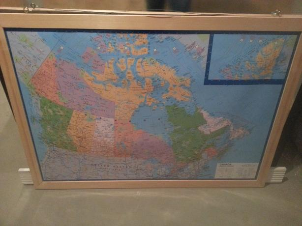 Wall Map of Canada & The World