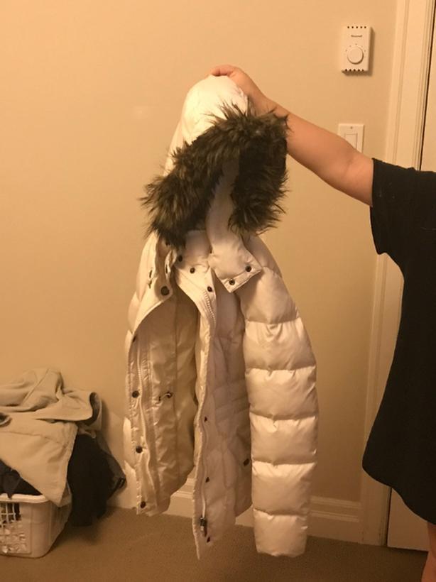 esprit white jacket with hoodie