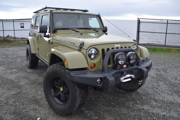 2013 Jeep JK Rubicon Unlimited 4 Door, 6 speed in rare Commando Green