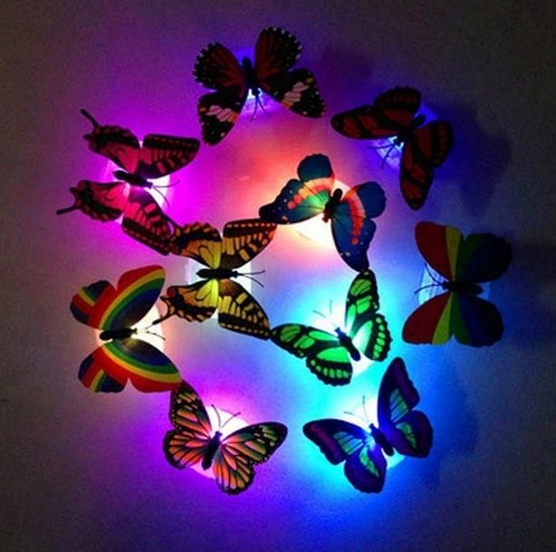 11 New Butterfly LED Night Light Color Changing Night Light - $5 each