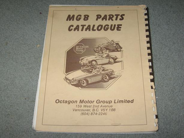 MGB Parts Catalogue dated 1988