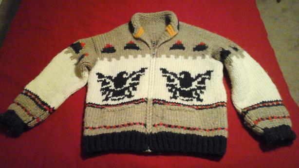 Fabulous Vintage Cowichan Sweater