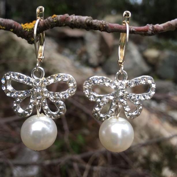 Butterfly Bows drop earrings