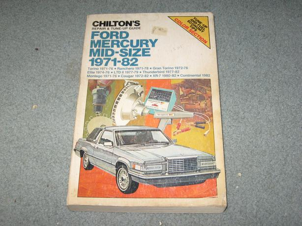1971 - 1982 Ford Mid size car repair and tune up manual