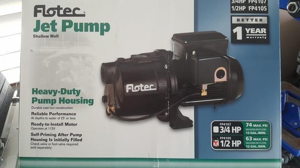 NEW! Flotec Jet Water Pump