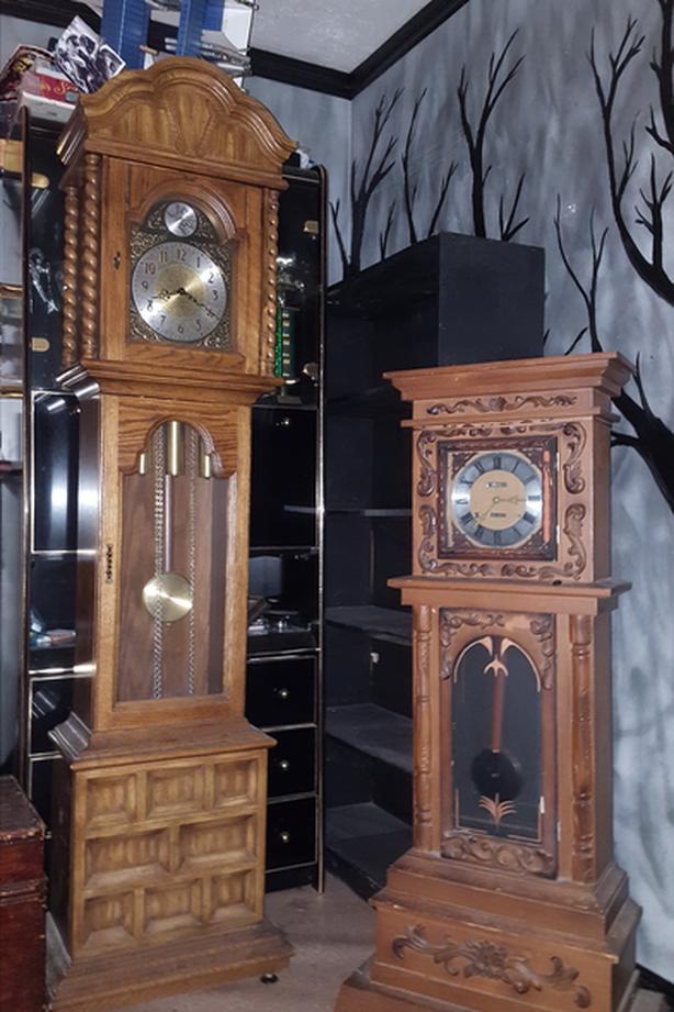grandfather and grandmother clocks