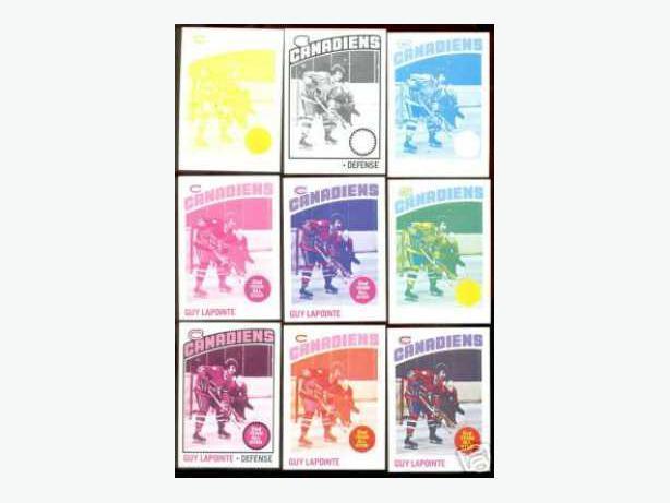 1976/77 Topps Hockey Progressive Proof Set. 1 of a kind