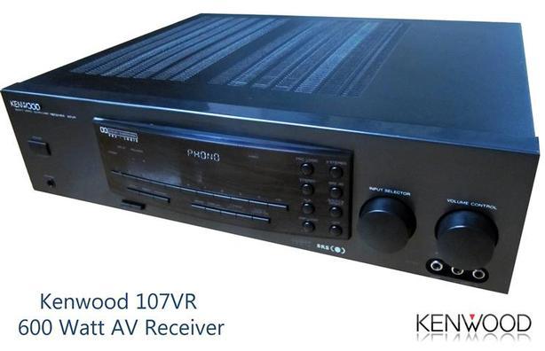 600 Watt AV Receiver w/ phono stage ~ Kenwood 107VR
