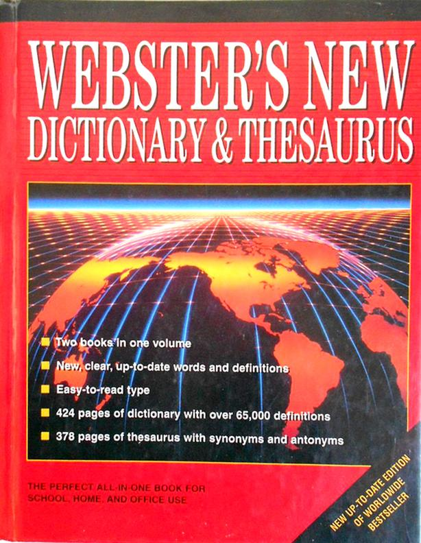 Websters Book Dictionary Thesauraus - $10
