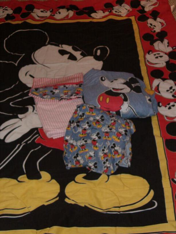 mickey mouse bedding ,