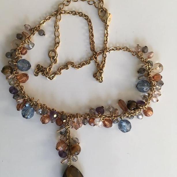 Vintage Avon Cool Warmth multi-bead necklace