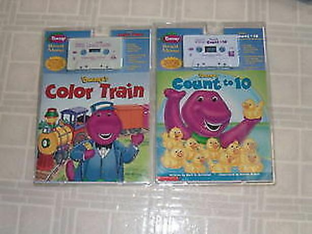 Barney's read along book and cassette