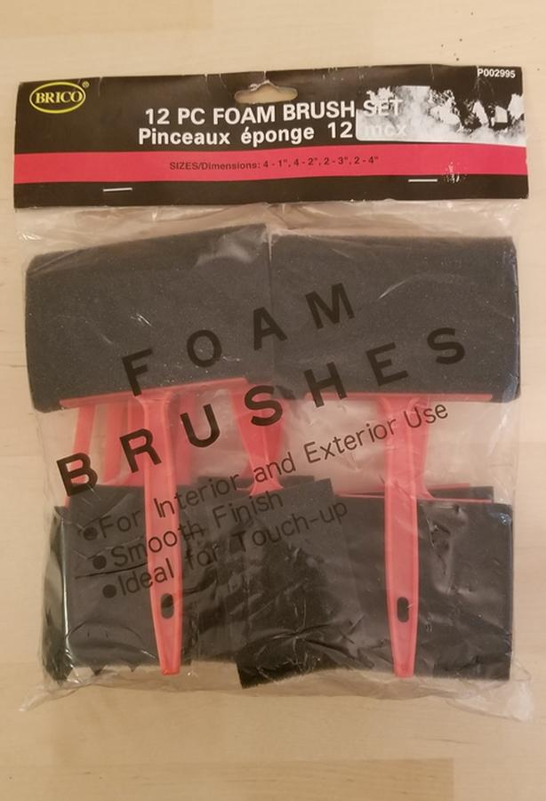 12pc Foam Brush Set