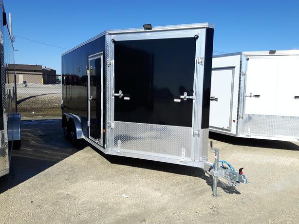 2019 Alcom 7.5X14 Enclosed Sled Trailer HH4406