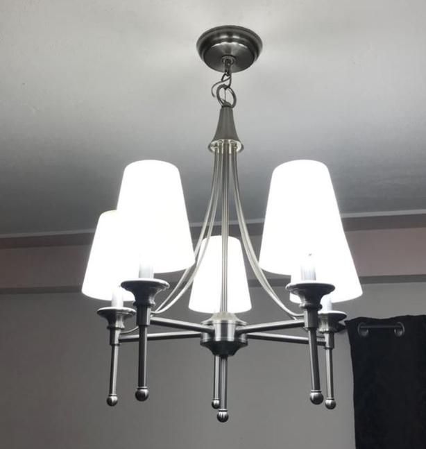 Chandelier with led day light bulb