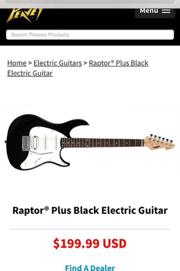 Peavey Raptor Electric Guitar and Amp