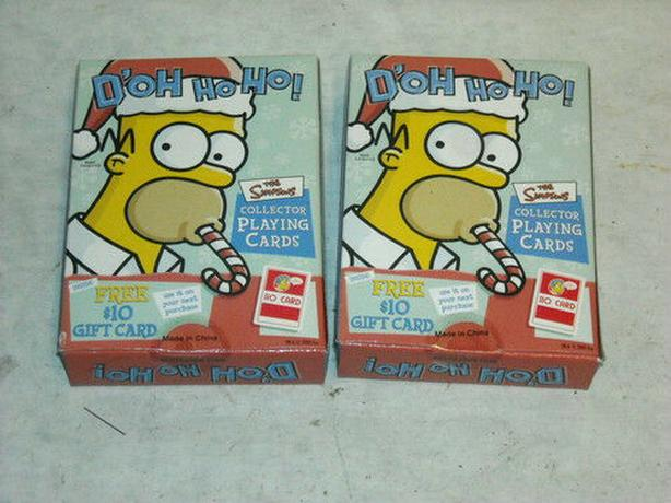 2002 Simpson D'oh ho ho playing card