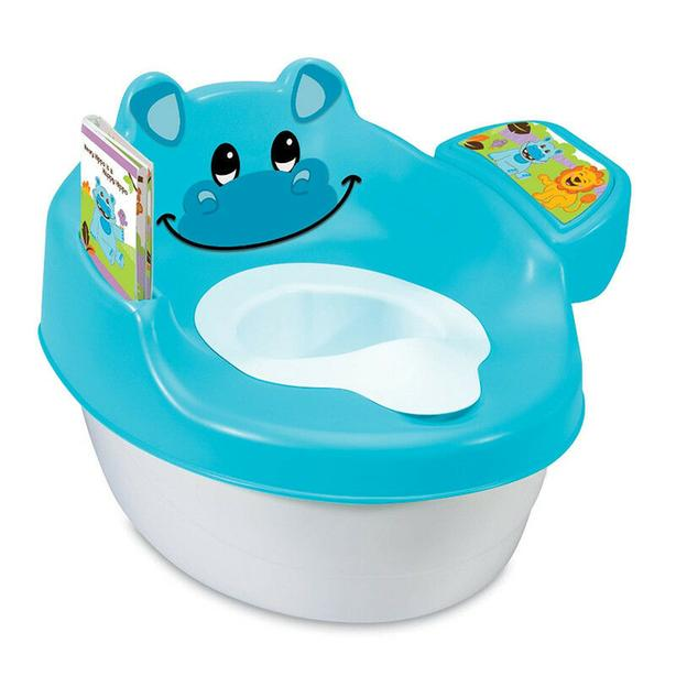 child potty , and stand-stool ,color blue ,