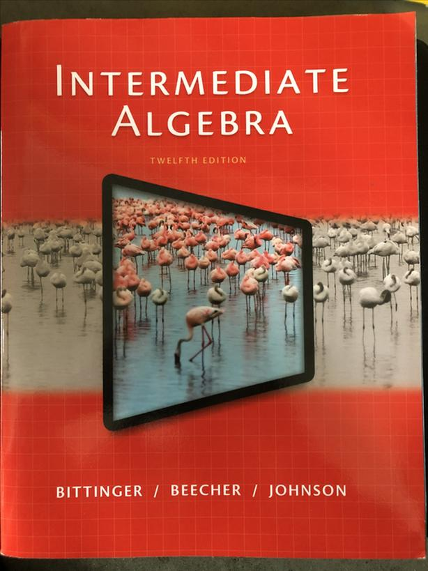 Intermediate algebra textbook