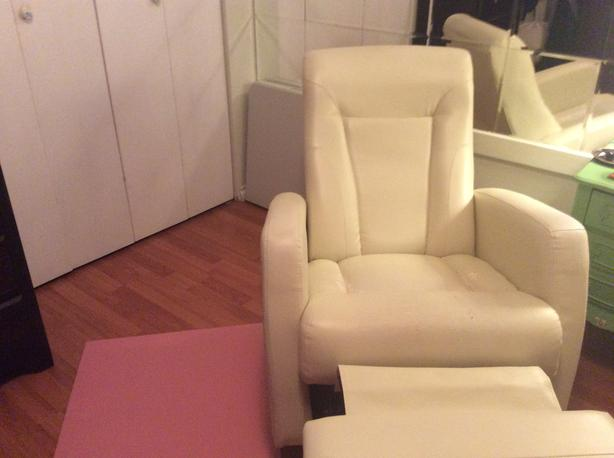 FREE: off white recliner chair