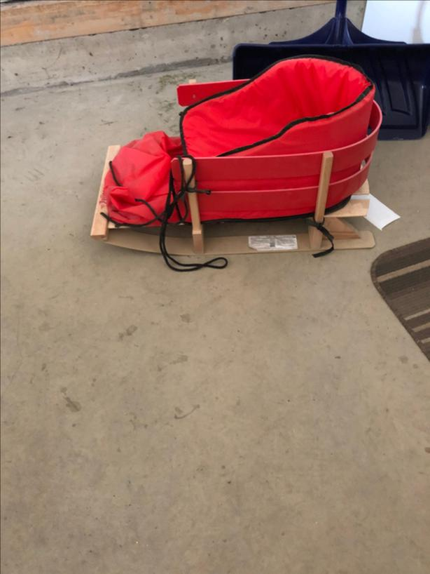 Baby wood sled