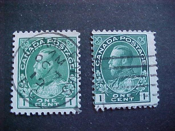 SCOTT 104 MISPERFORATED KING GEORGE V ADMIRAL