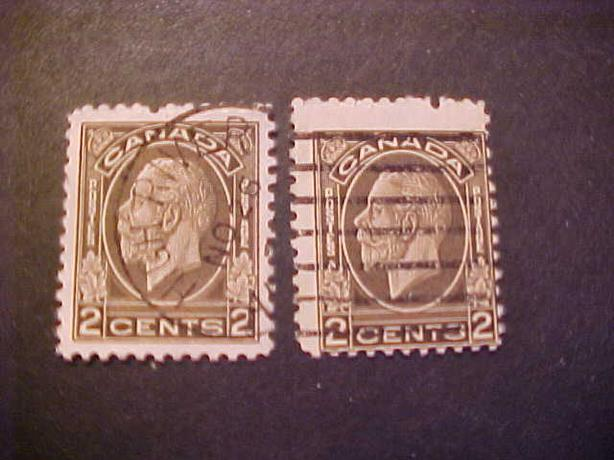SCOTT 196 MISPERFORATED KING GEORGE V