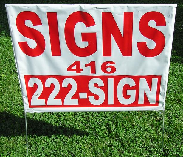 100PCS Lawn Bag Signs / Lawn Yard Signs / Poly Bag Sign Advertising