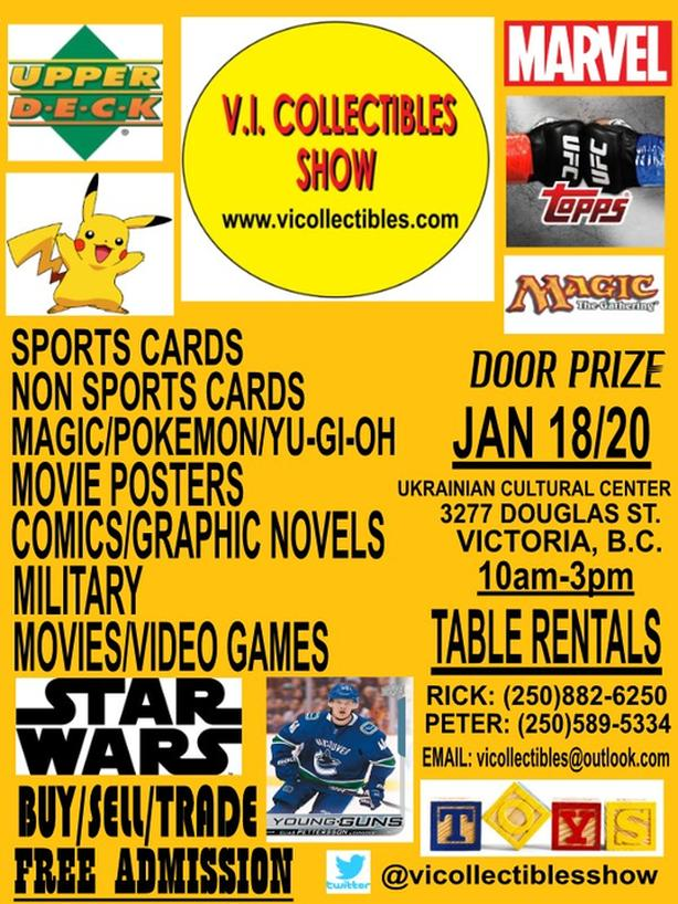 V.I. COLLECTIBLES SHOW (JAN 18/20 ****FREE ADMISSION****