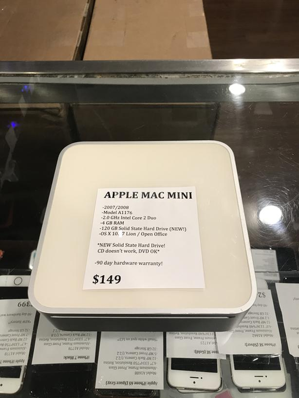 2007/2008 White Apple Mac Mini 2GHz 4GB RAM 120GB SSD NEW SSD w/ Warranty!