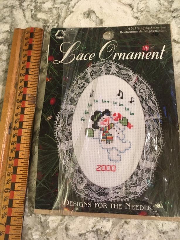 Christmas ornament embroidery kit