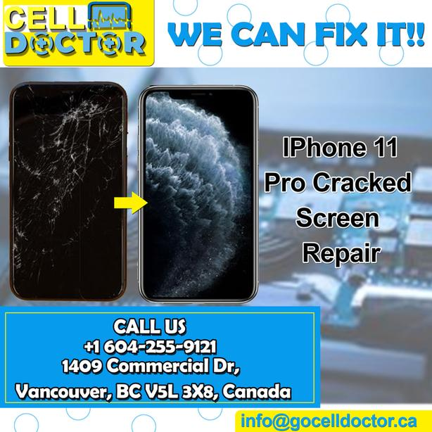 Iphone 11 broken glass changing in discounted price with best quality