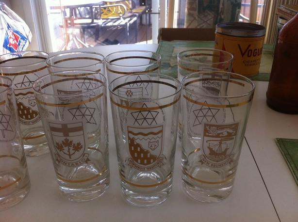 Canadian Centennial Glasses-30 New.Unused