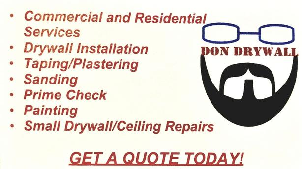 drywall/tapping/subcontractor/renovations