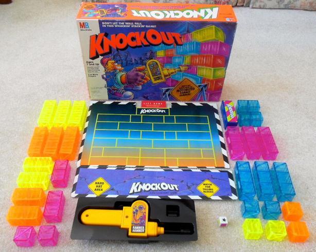 Milton Bradley Knockout Wall Stack