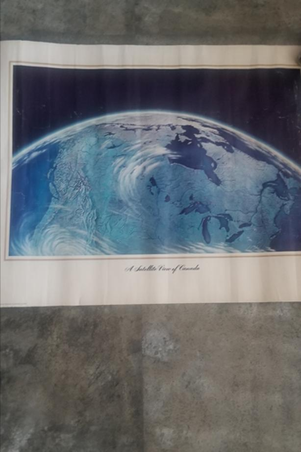 Satellite view of Canada Poster