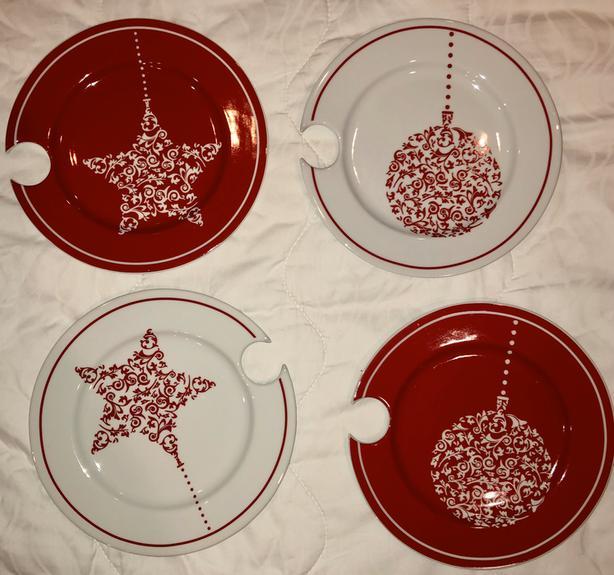 NEW Porcelain Entertaining Plates