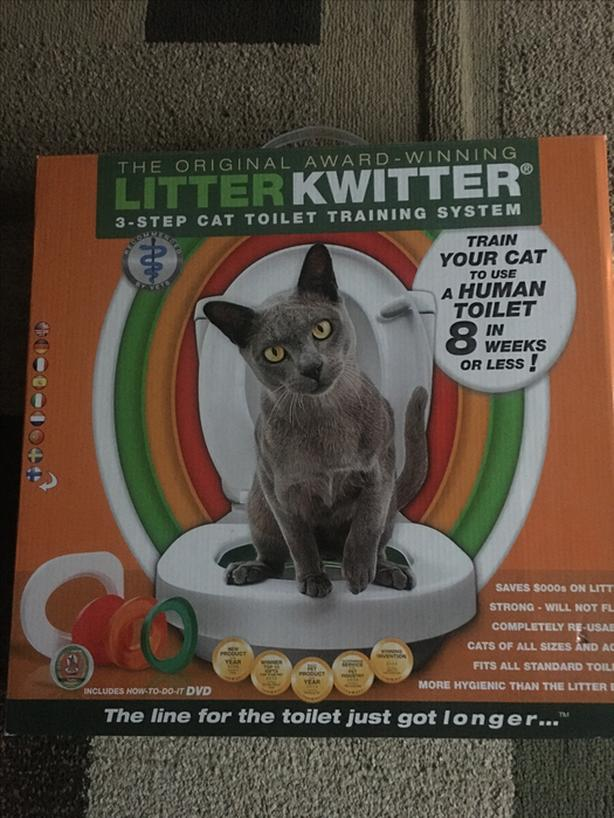 Toilet train your cat!
