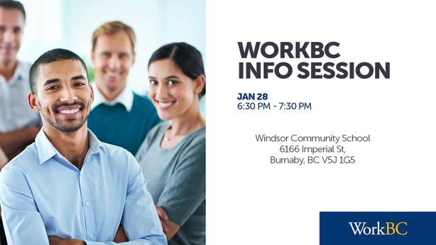 WorkBC Info Session - Windsor Community School