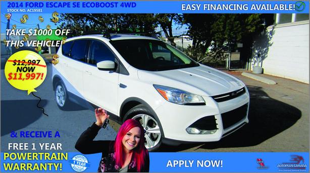 2014 Ford Escape SE ECOBOOST 4WD