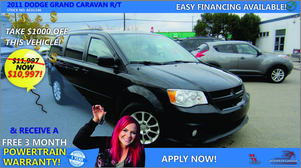 2011 DODGE GRAND CARAVAN R/T - On Sale Now !!