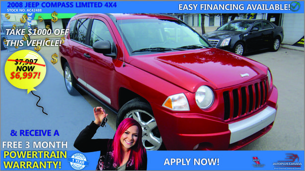2008 Jeep Compass Limited 4X4 - On Sale Now !!