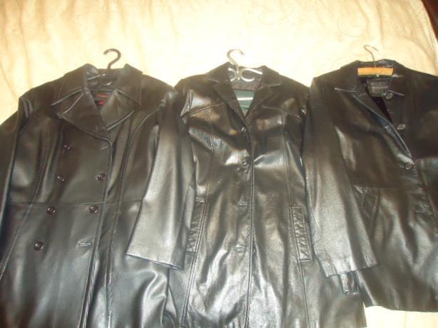 Gorgeous 3 Designer Women's Genuine Leather Coats - Like NEW