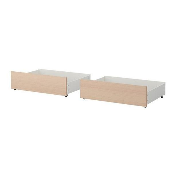 Ikea MALM Underbed Storge Box for High Bed Frame - Queen / King (2 Pcs)