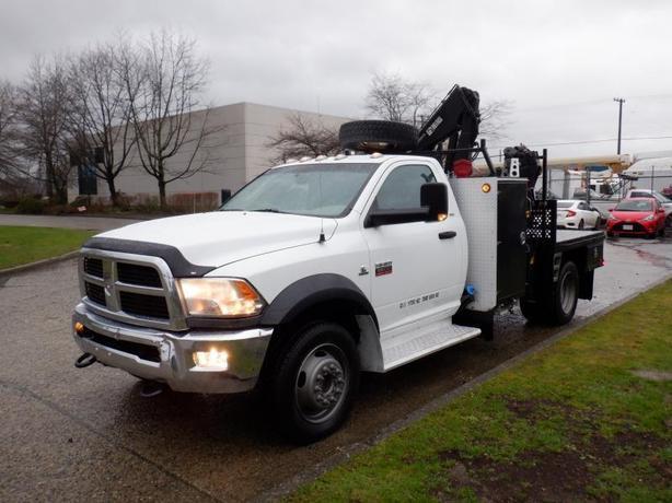 2012 Dodge Ram 5500 Flat Deck Crane Service Truck 4WD Diesel
